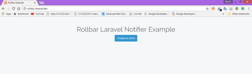 Laravel example screenshot