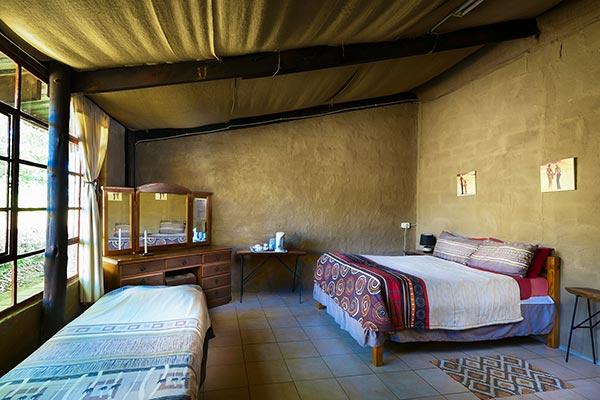 Inside view of a double en-suite room.