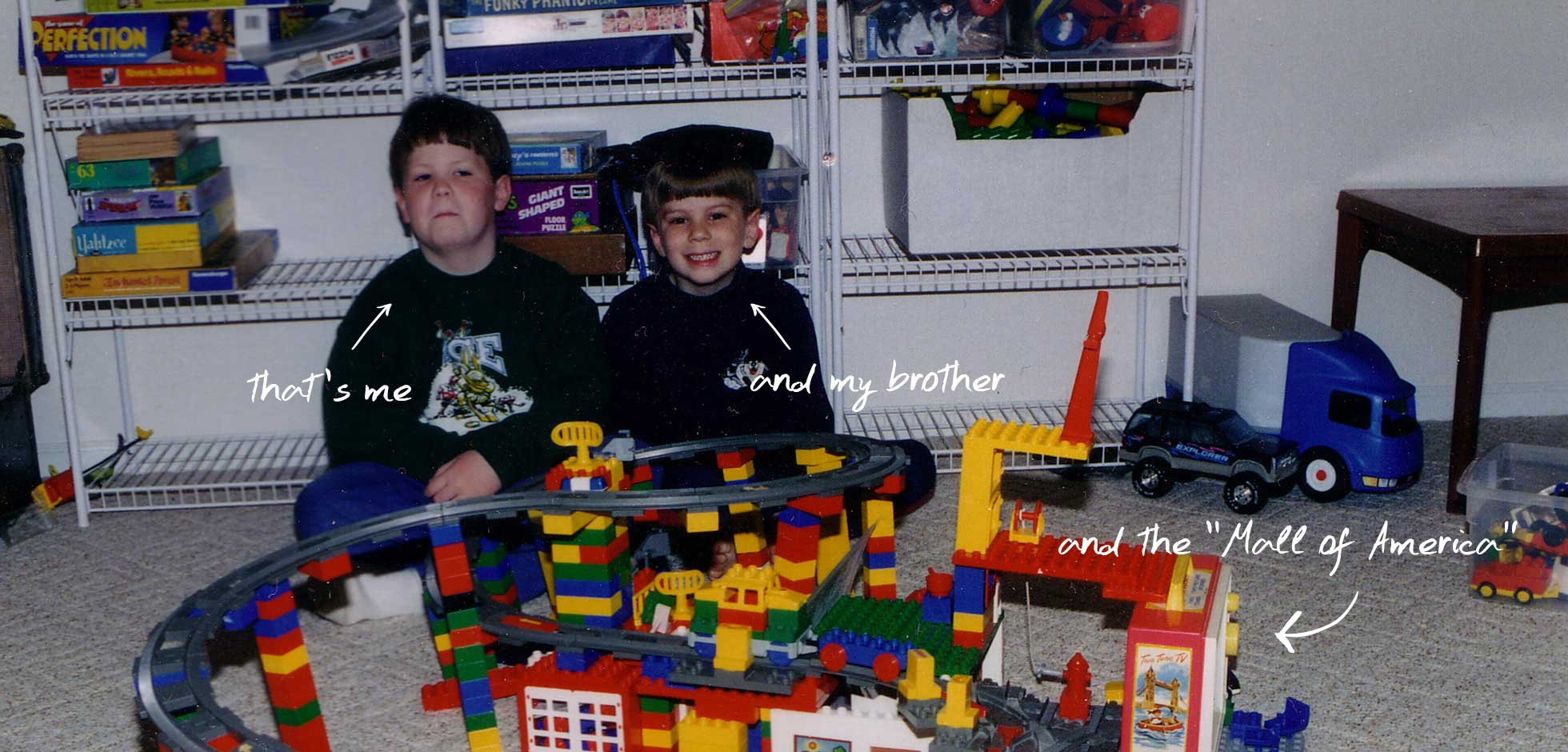 Cory and his legos