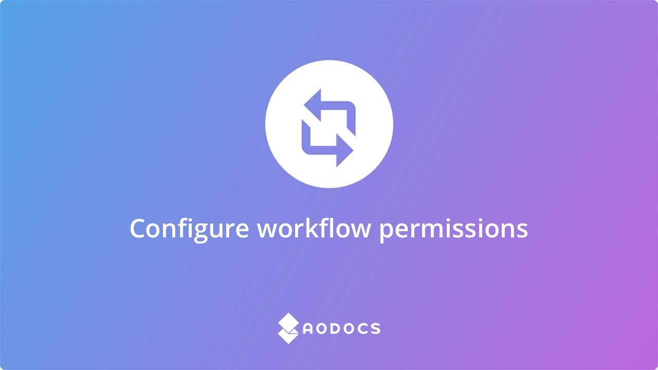 Configure workflow permissions's thumbnails