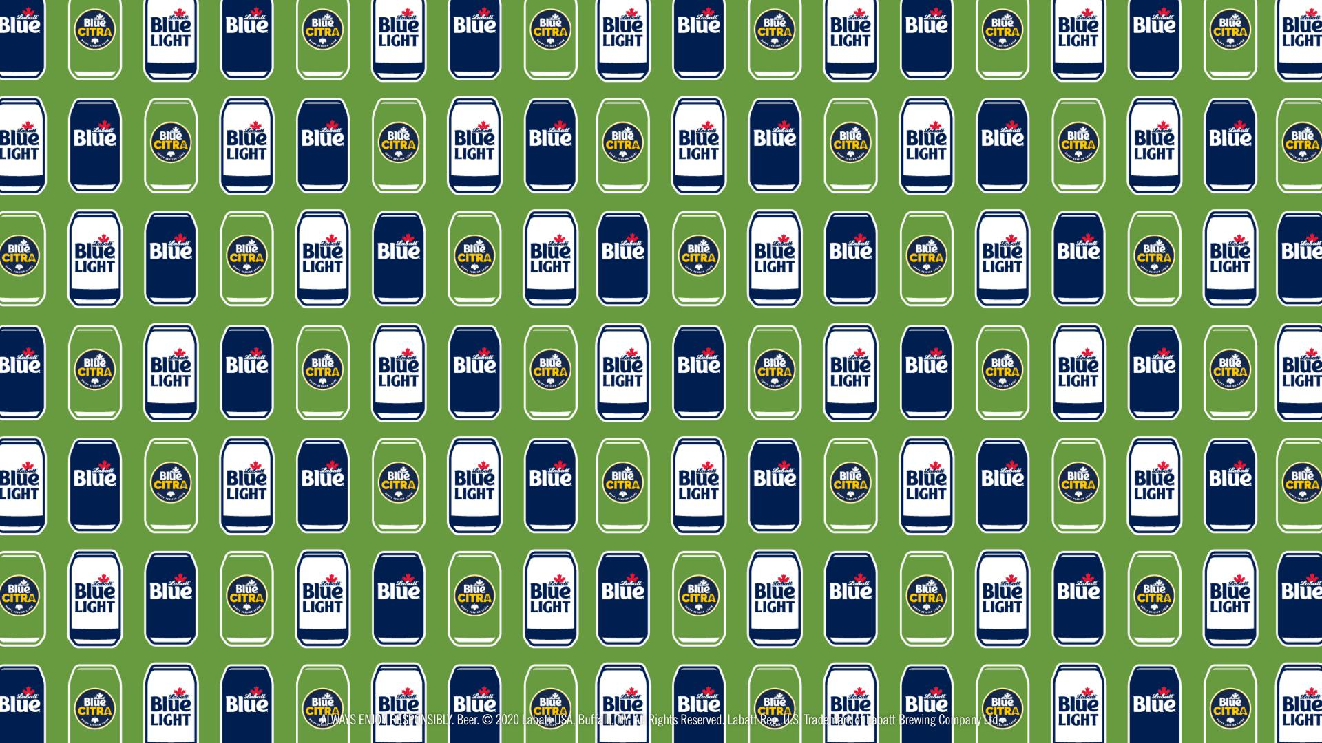 Blue, Blue Light, and Blue Citra Cans Pattern Background