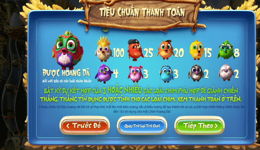 thethaoletou.com  Cách chơi và luật chơi game Birds - Game được áp dụng khi nhận vòng quay miễn phí