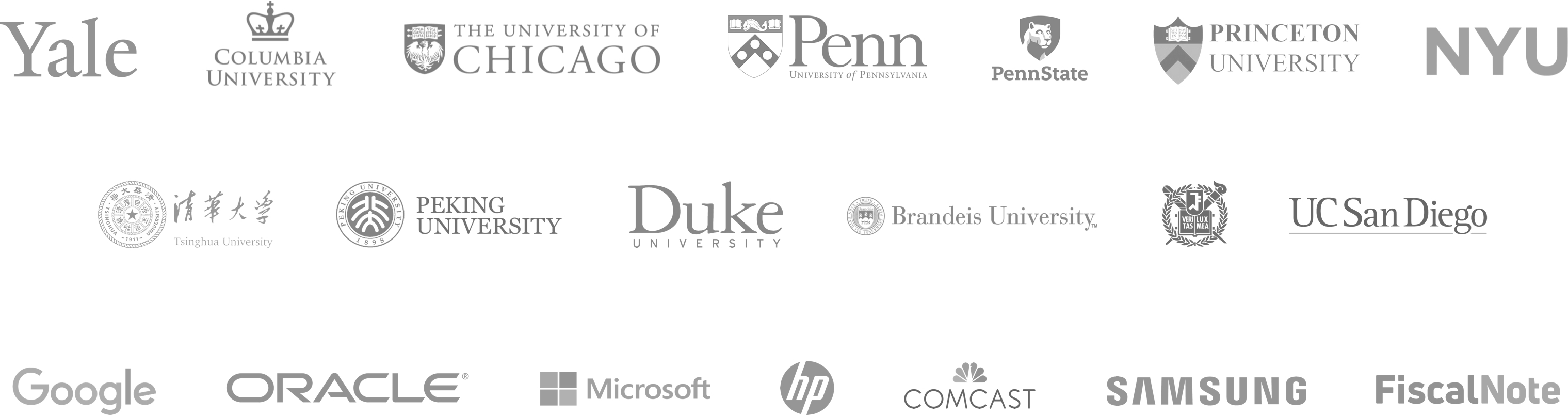Logos of Schools and Companies