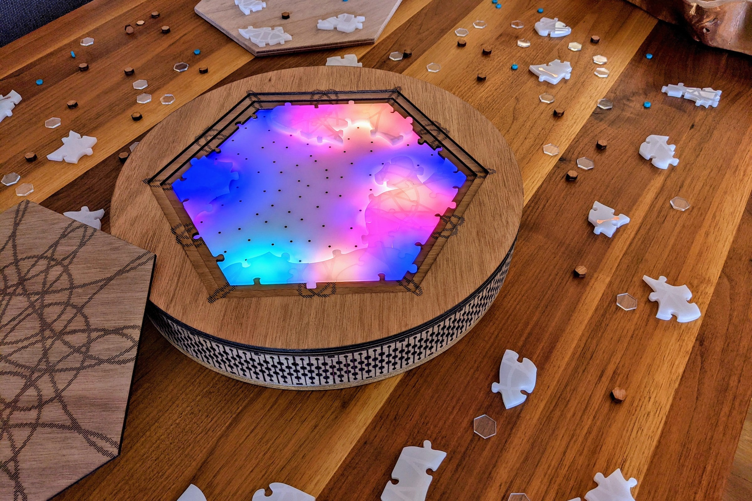 My final project, NOVA, a jigsaw puzzle with light