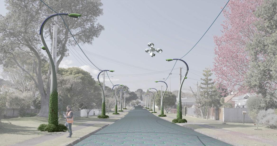 Vector Energy Future artwork of street