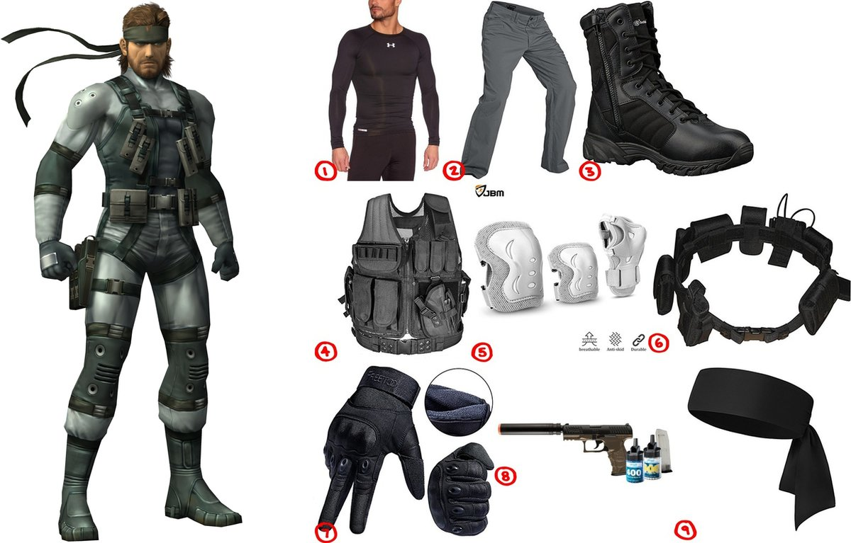 sc 1 st  Costumet & Dress Like Solid Snake Costume for Cosplay u0026 Halloween