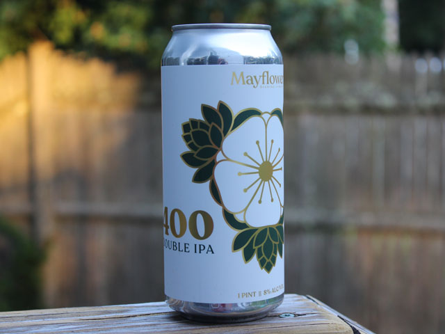 400, a Double IPA brewed by Mayflower Brewing Company
