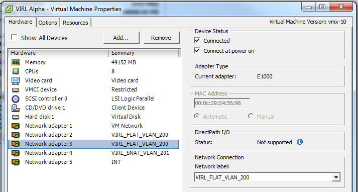 VMWare VLAN Config