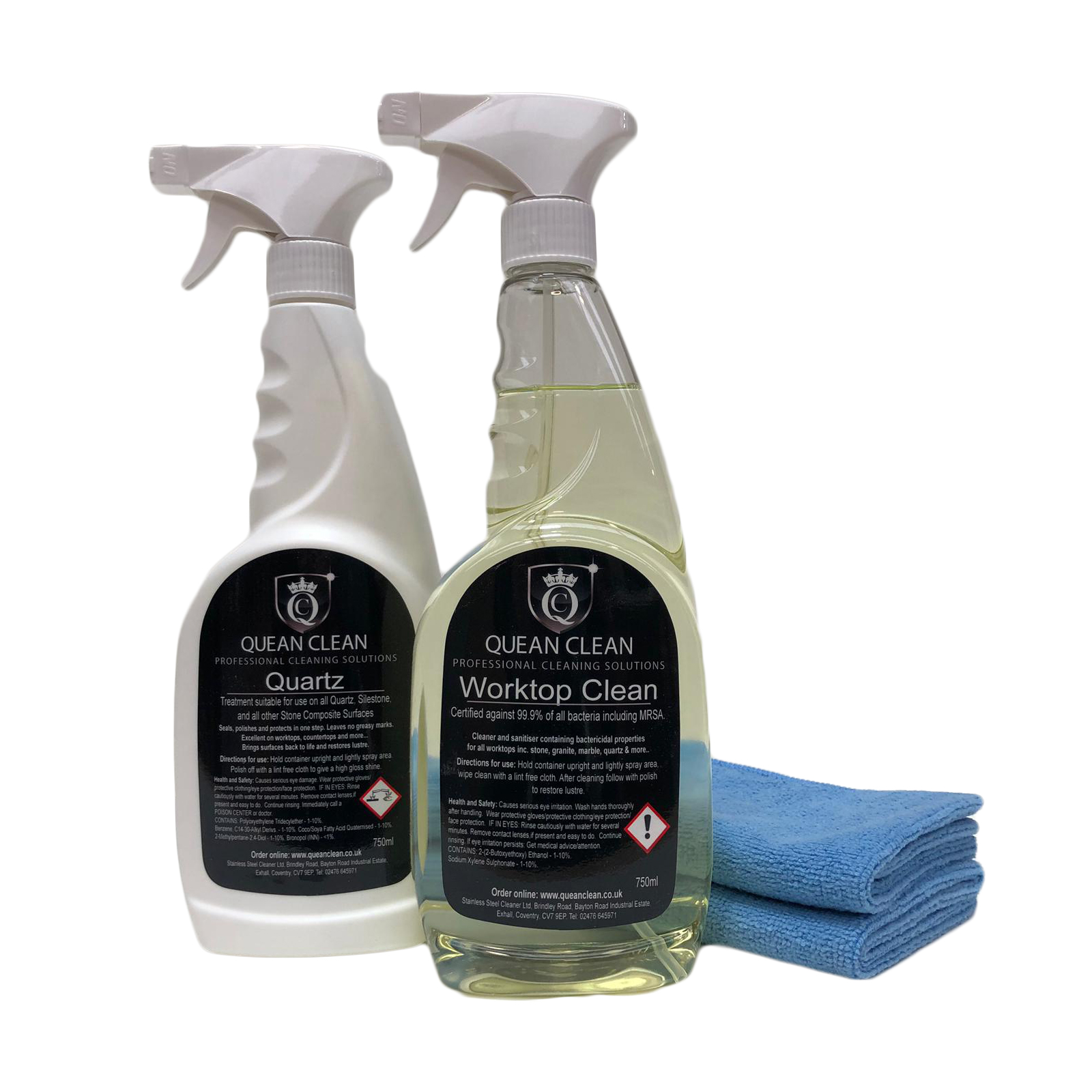 Quartz Worktop Cleaner and Polish Kit