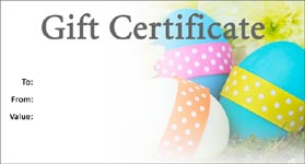 Gift Certificate Template Easter 01