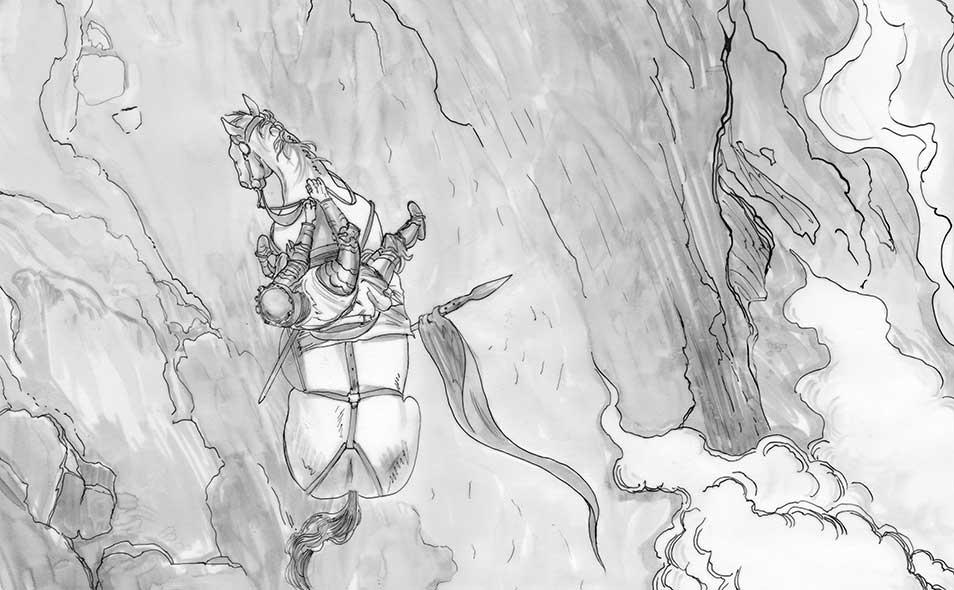 Atoleiros Battle animatic - Juan 1 of Castile on warhorse