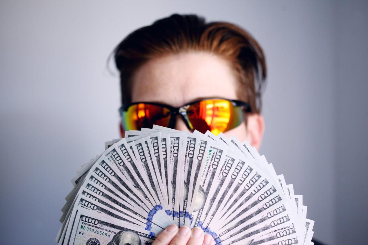 big wad of cash