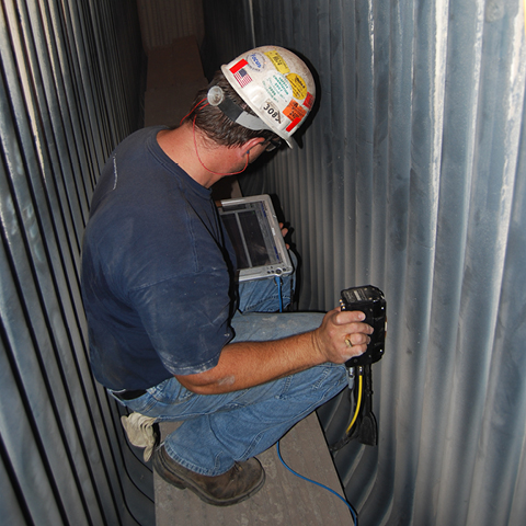 Boiler Inspection with the temate® TG-IS(B)-small