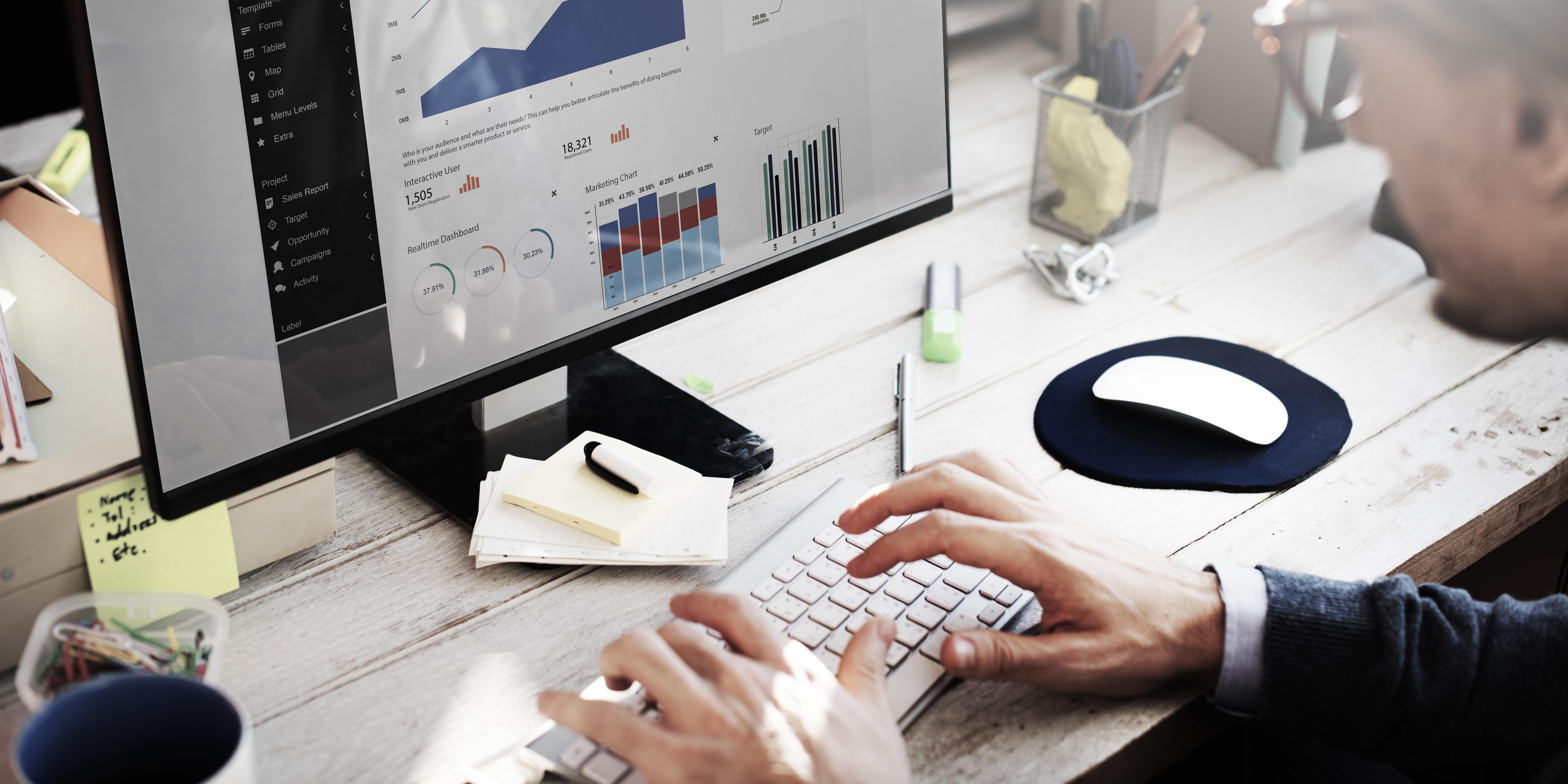 Data analyst creating visualizations