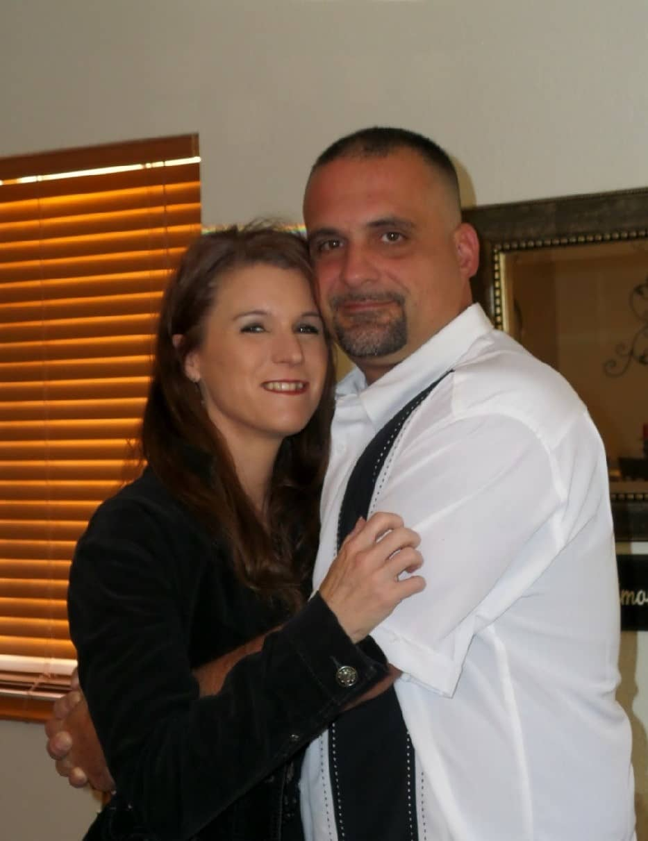 joe and lori sanchez together smiling for a picture