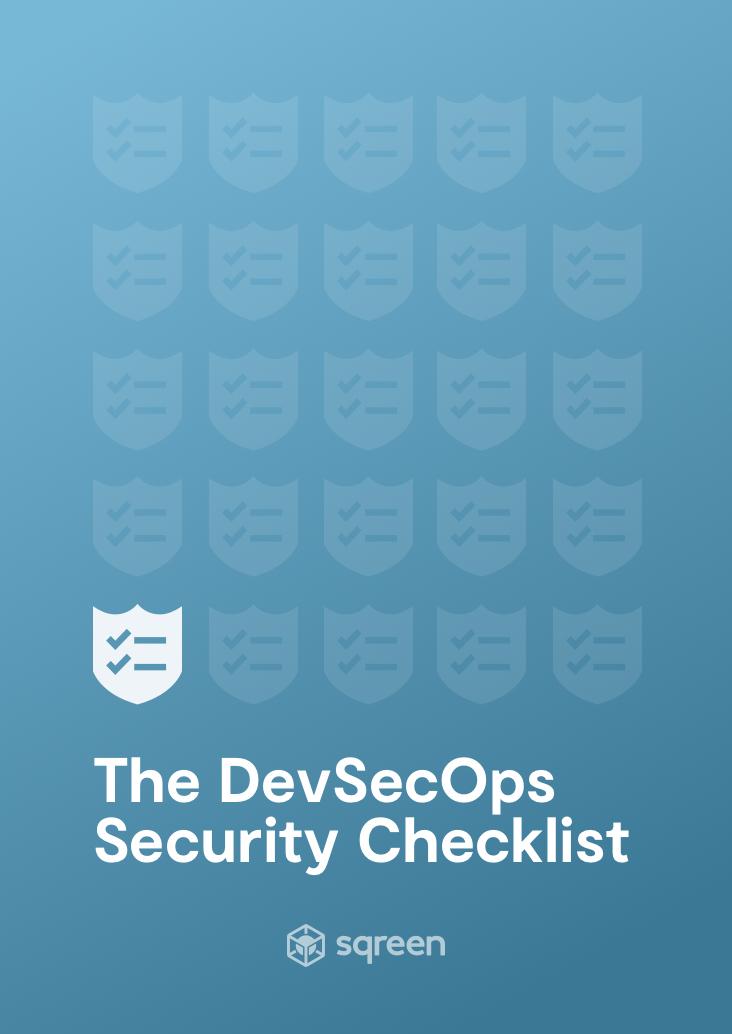 DevSecOps Security Checklist