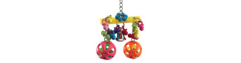Hanging bell bird toy