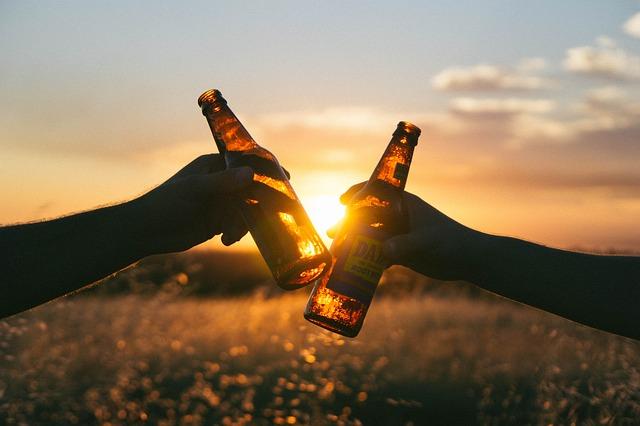 Beer bottles cheers