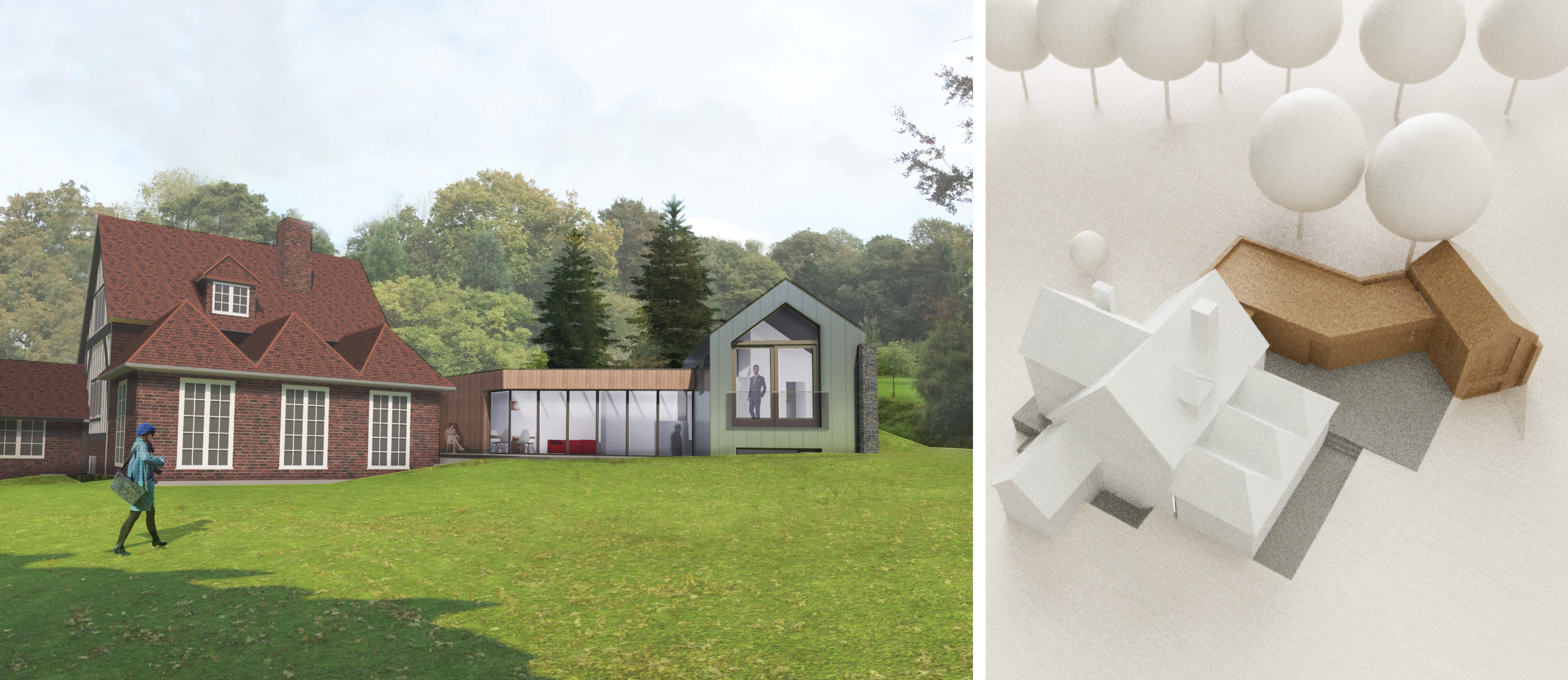 Contemporary Extension Granted Planning permission for Listed Building