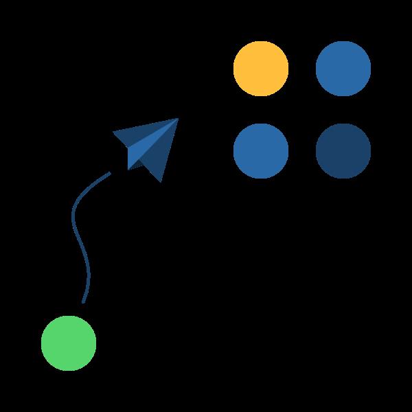 Branded illustration emphasizing the Share idea
