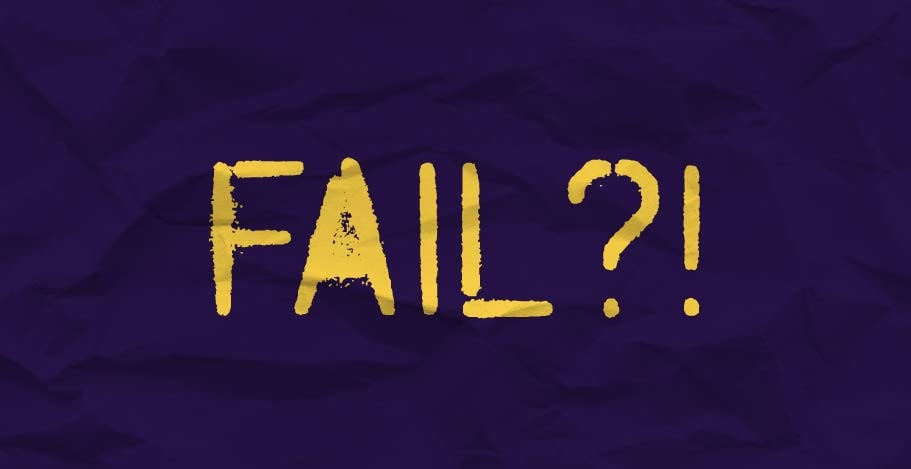 The word 'fail' in graffiti font