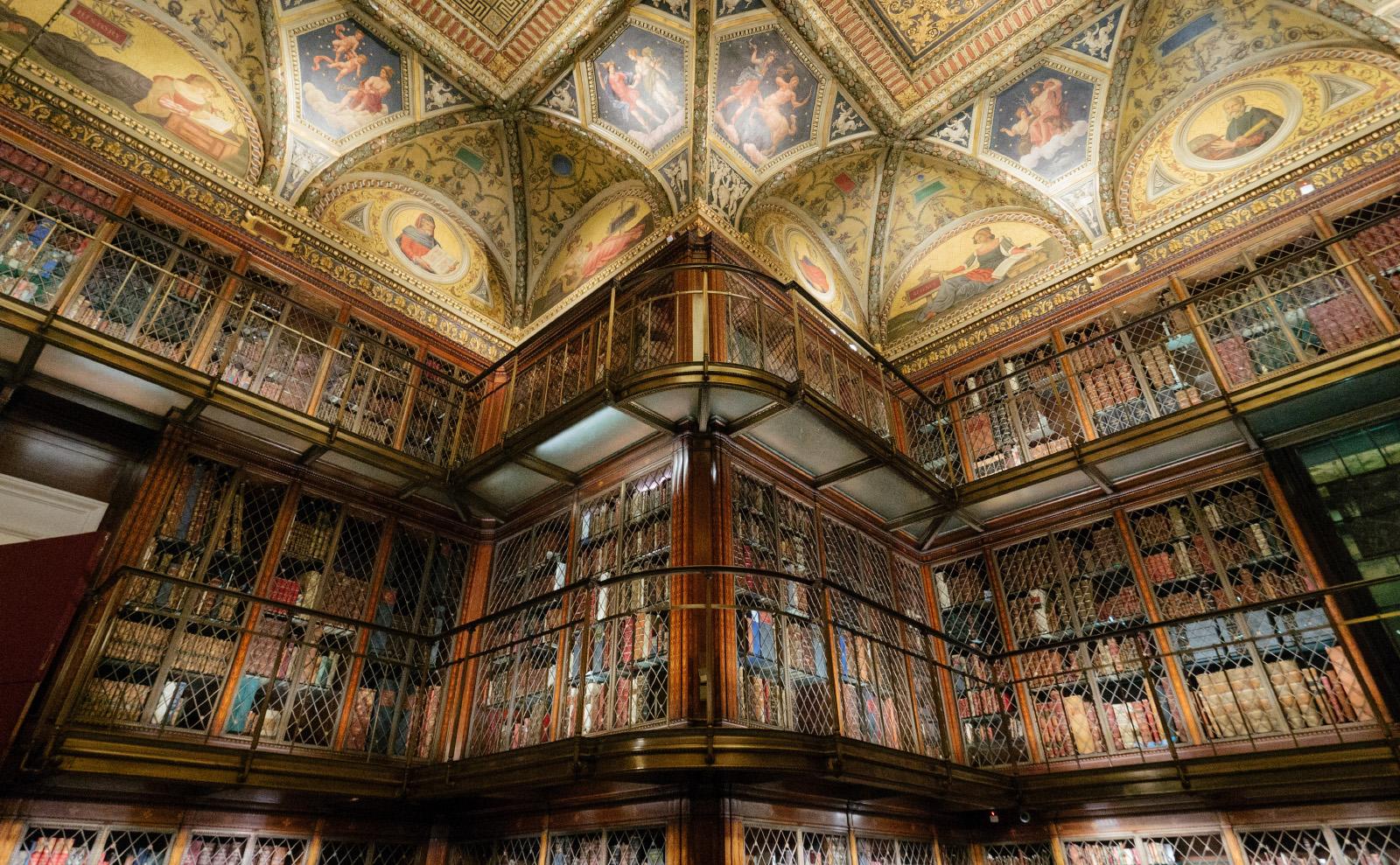 morgan library bookshelves