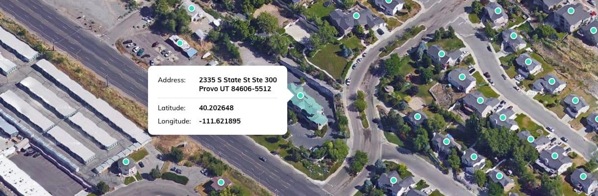 US Rooftop Geocoding reveals the longitude and latitude of an address
