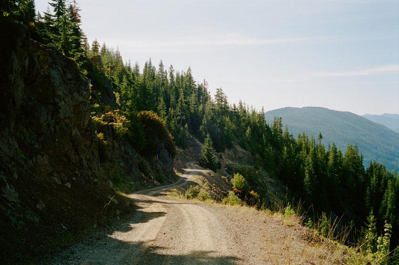dirt roads near the Snoqualmie pass region in Washington