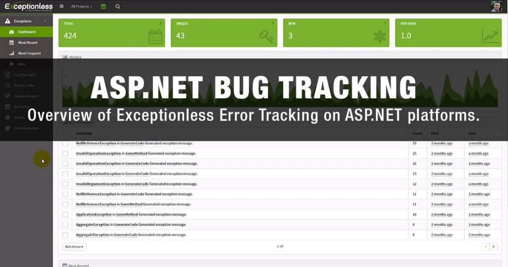 asp.net bug tracking software platform