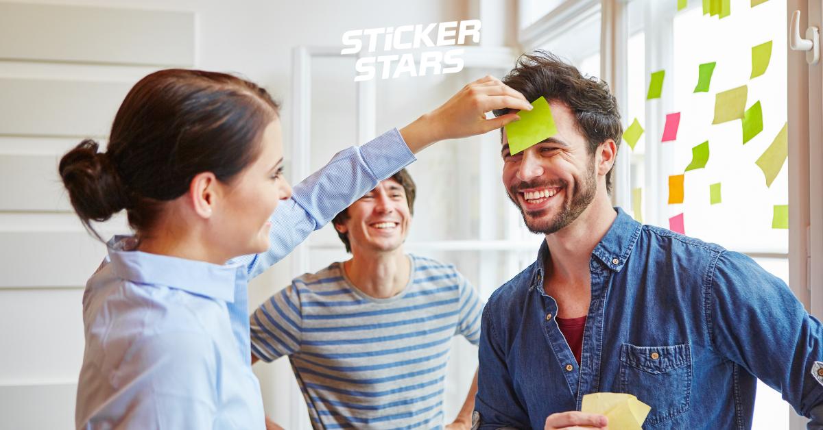 teambuilding spiele stickerstars