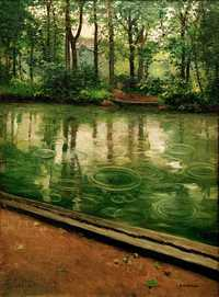 'The Yerres, Effect of Rain' by Gustave Caillebotte (1848–1894) in 1875, oil on canvas