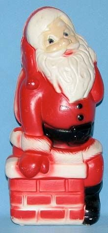 Classic Santa On Chimney photo