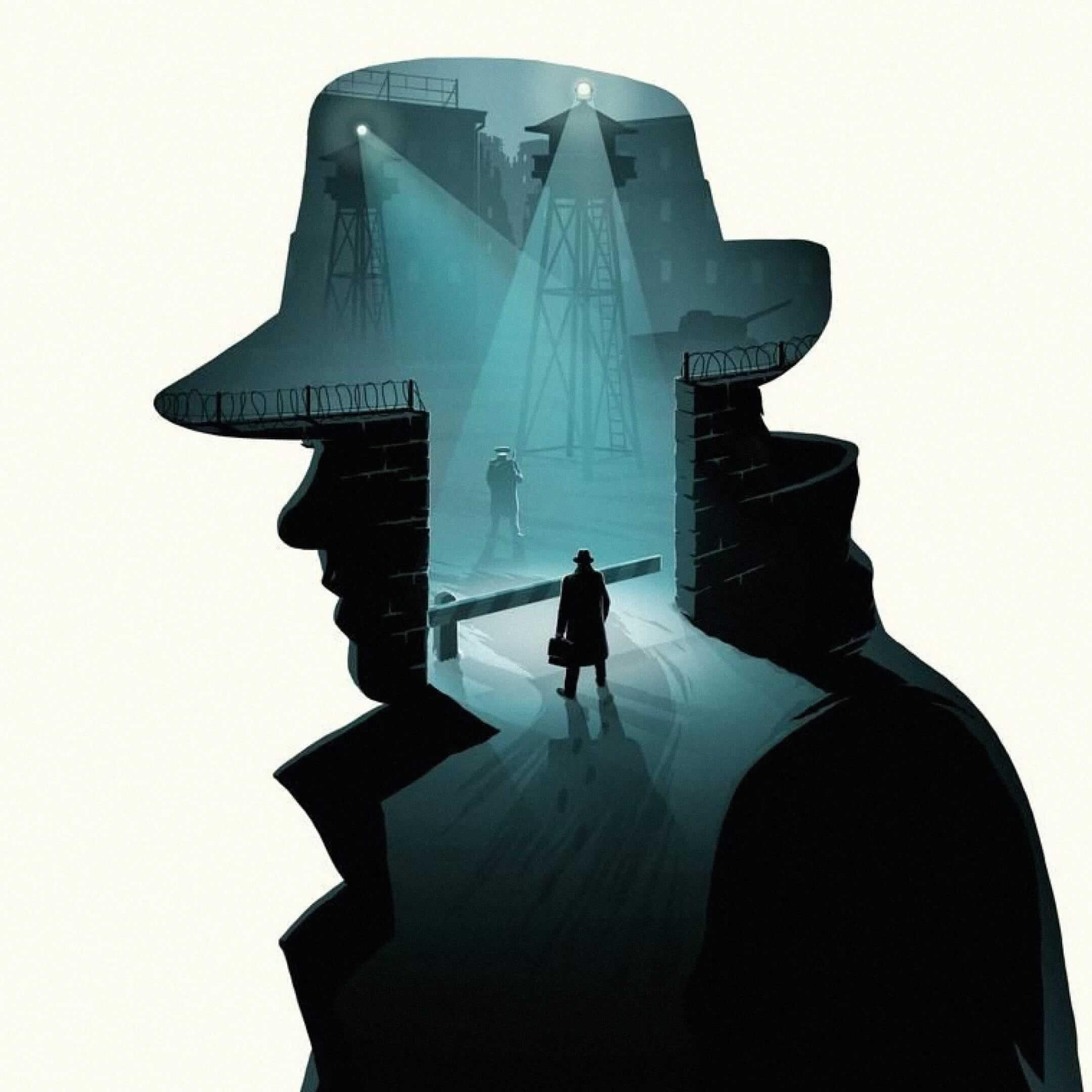 Иллюстрация кфильму «Шпионский мост» / pinterest.ru