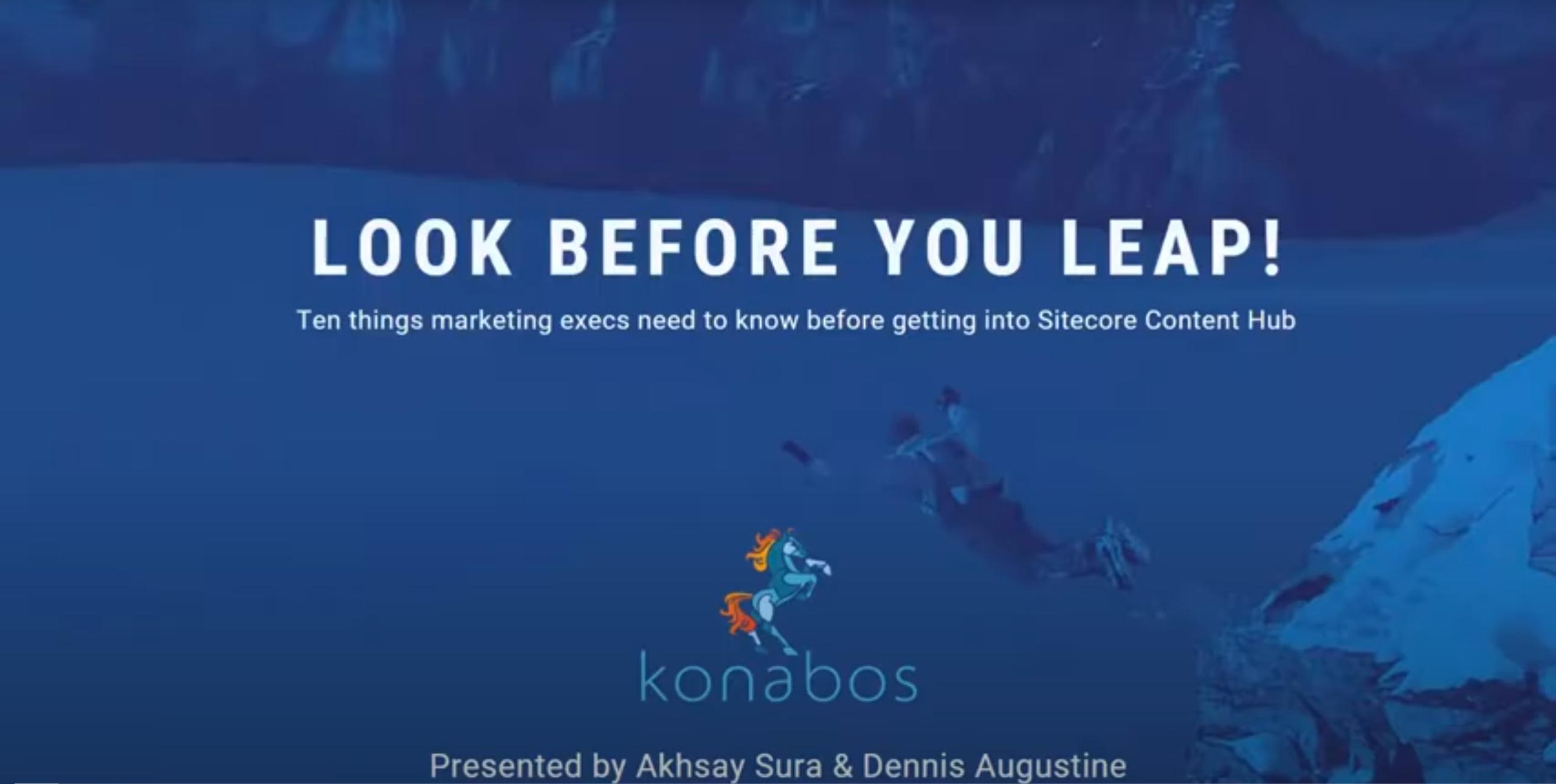 Look Before You Leap Webinar
