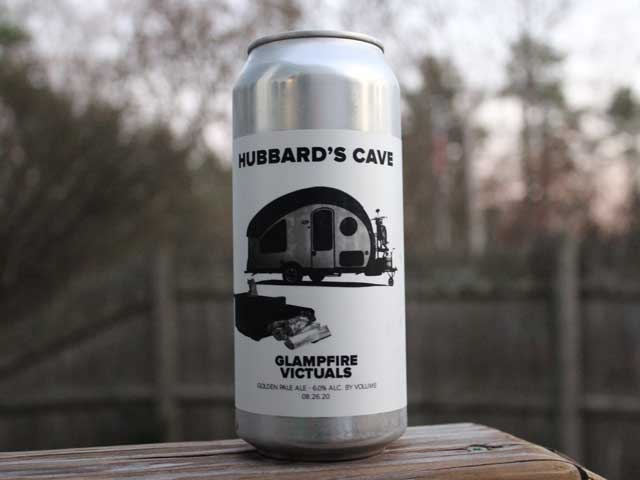 Glampfire Victuals, a Golden Pale Ale brewed by Hubbard's Cave