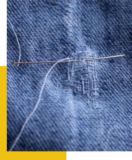 Recoudre votre jean