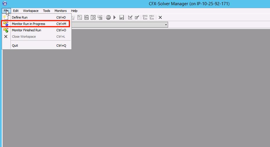 CFX Solver Manager