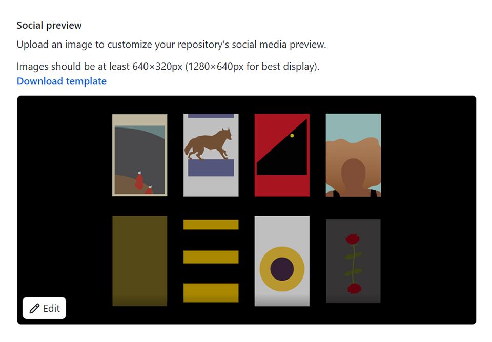 The social preview settings UI on Github
