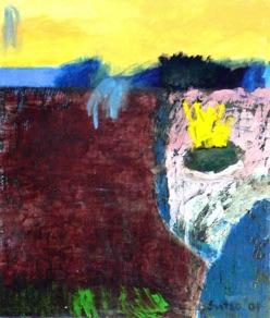 "Külli Suitso, Estonia. ""Landscape"" 2001. Canvas, acrylic, 120x140cm"