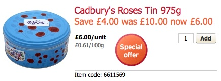 Roses 975g Tin