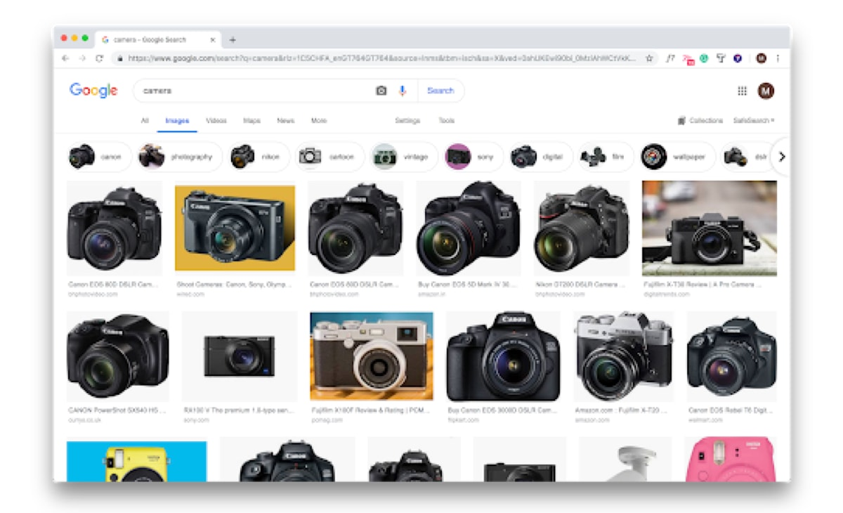 "Google image results for search query ""camera"""