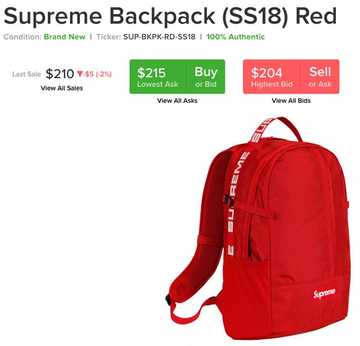 Supreme Backpack on ebay