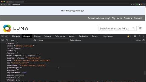 Debug UI Components with uiRegistry