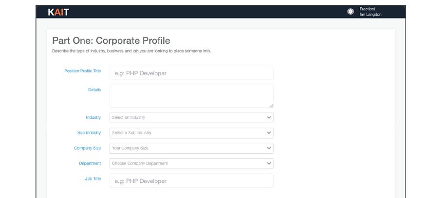 Create a Position Profile