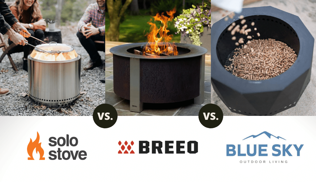 Best Smokeless Fire Pits:, Solo Stove vs. Breeo vs. Blue Sky, (2021 Review) cover image