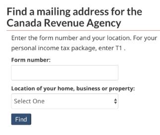 CRA postal code lookup success.