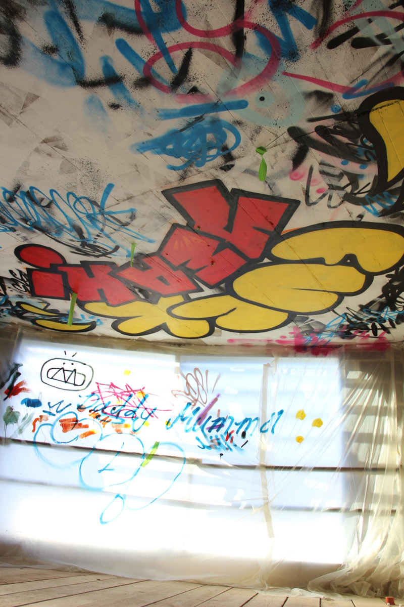 slg-graffiti-ceiling-commission-cheltenham-fuck-yeah