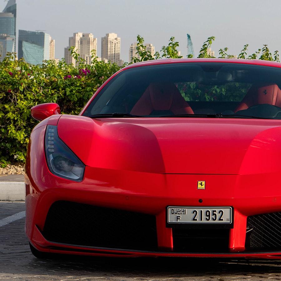Ferrari 488 front mobile