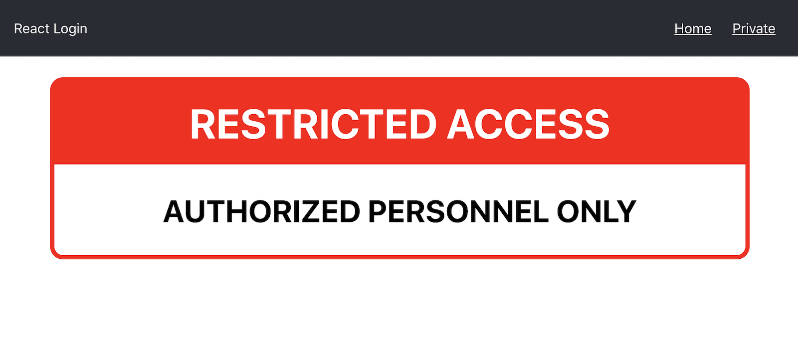Restricted page that should only be accessible to registered users