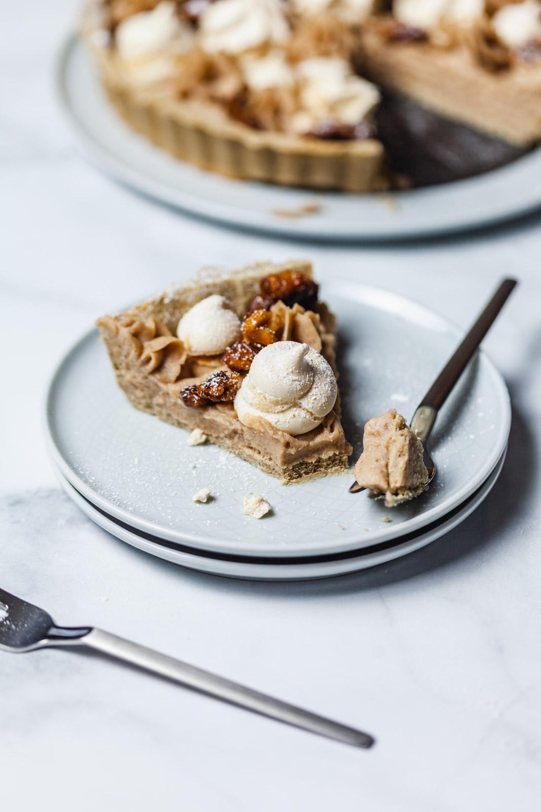 Mont Blanc Chestnut Dessert Tart
